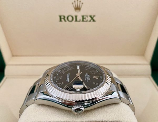 Rolex Datejust II 41mm ref. 116334 18k White Gold Bezel